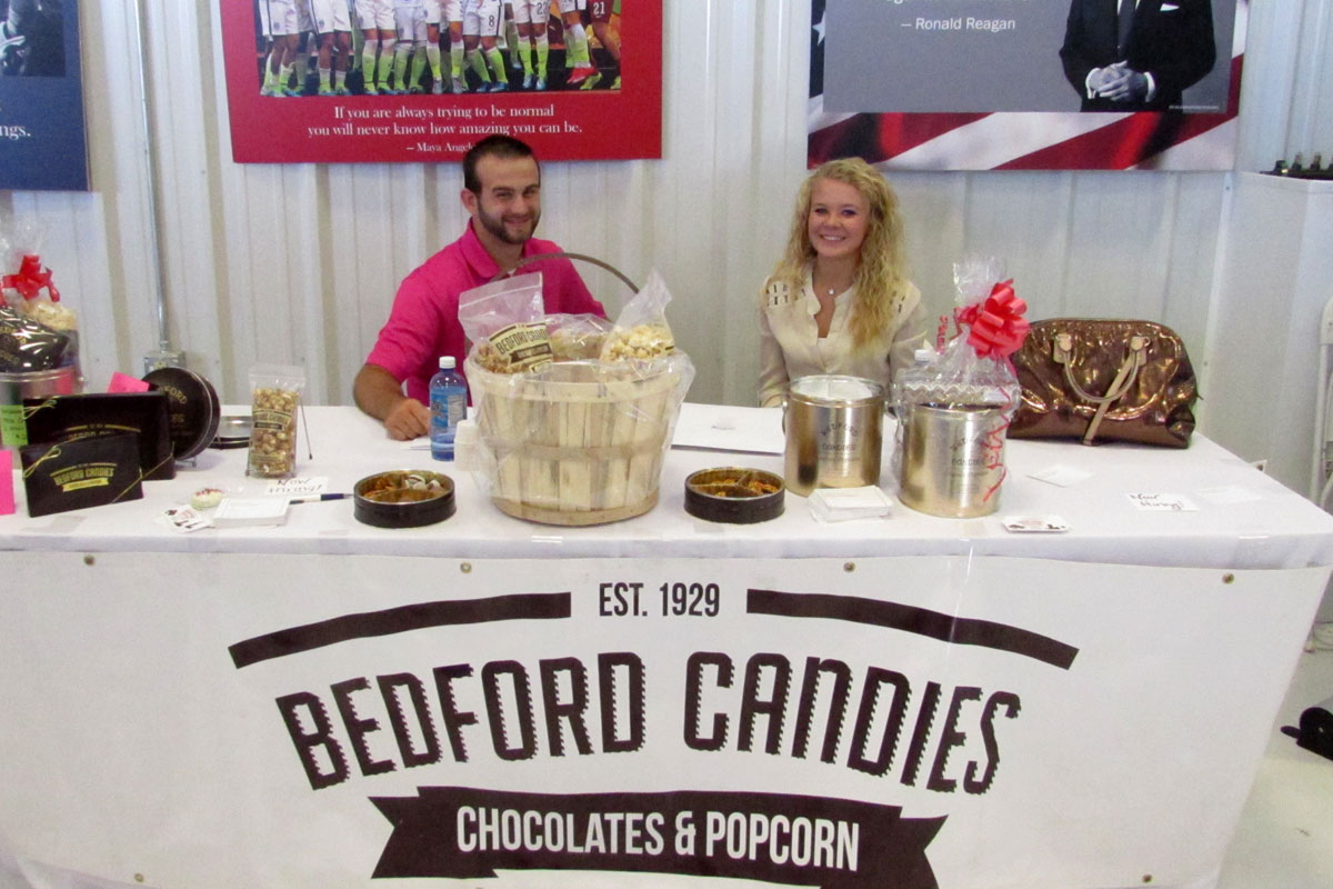 Bedford Candies, a chamber member, at community showcase