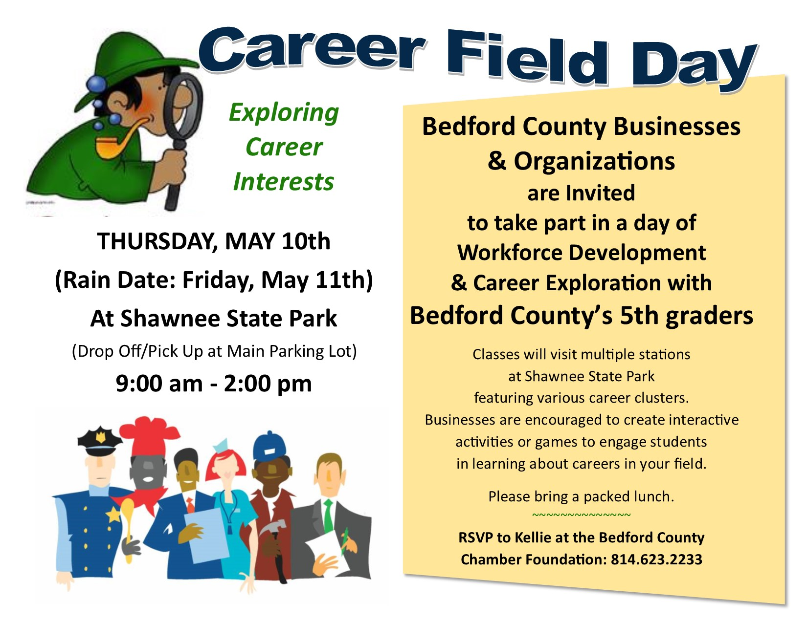 career field day business flier